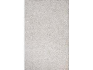 "Polyester Ivory White Solid Pattern Ultra Plush Rug (7' 6"" x 9' 6"")"