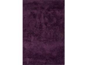 Polyester Purple Solid Pattern Soft Hand Rug (4' x 6')