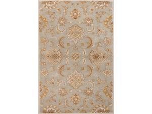 Wool Blue Ivory Oriental Pattern Easy Care Rug (9' x 12')