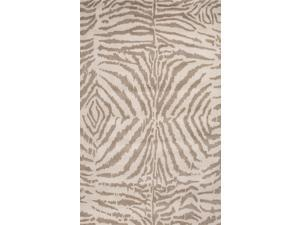 Wool Black Ivory Animal Print Pattern Plush Pile Rug (8' x 11')
