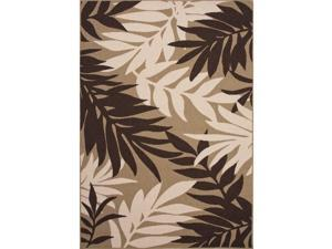 Handmade Floral Pattern Brown/Taupe Polypropylene (2x3.7) Outdoor Rug
