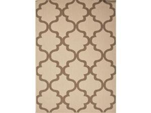 Handmade Moroccan Pattern Taupe/Brown Polypropylene (7.11x10) Outdoor Rug