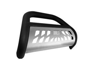 Aries Offroad AL45-3007 Aluma Lite&#59; Big Horn&#59; Bull Bar&#59; 4 in.&#59; w/Stainless Skid Plate&#59; Textured