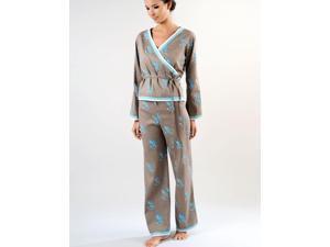 Le Monde d'Alba Coba Cappuccino Wrap Pyjamas  Large (14)