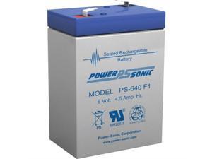 0600422602 POWER-SONIC 6V 4.5AH SLA BATTERY