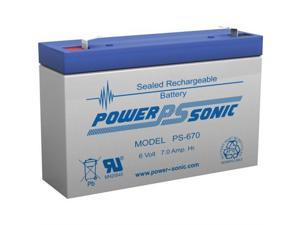 PS-670F POWER-SONIC 6V 7AH SLA BATTERY