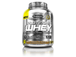 MuscleTech Platinum 100% Whey Supplement, Milk Chocolate Supreme, 5.03lbs