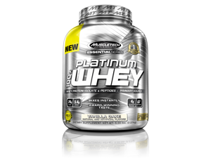 MuscleTech Platinum 100% Whey Supplement, Vanilla Cake, 5 Pound