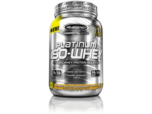 MuscleTech Platinum 100% ISO Whey Supplement, Peanut Butter Chocolate Twist, 1.76 Pound