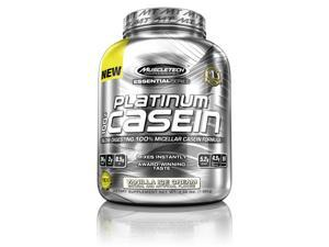 MuscleTech Platinum Pure 100% Casein, Vanilla Ice Cream, 3.66 Pound