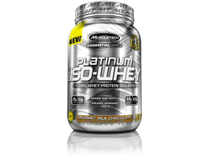 MuscleTech Platinum 100% ISO Whey Supplement, Gourmet Milk Chocolate, 26 Servings