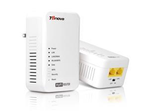 7inova 7WHP550KIT HyFi Wireless Smart Network Start Kit(Wireless Powerline Router Master/Add-On Slave with Plug and Play)
