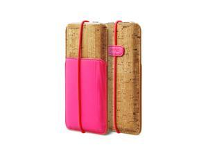 Zenus E-Cork Pouch Italian PU Leahter Cover Case for Apple iPhone 5 / 5S / 5C - NeonPink