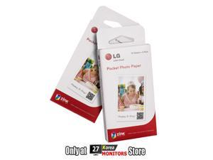 Zink PS2203 Inkless Media Photo Paper Exclusive for LG Pocket Photo PD221 PD233 PD239 Printer - 60 Sheets(Size 2 x 3')