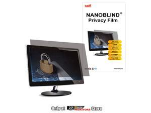 "[24"" Wide A 517.4mm (W) x 323.6mm (H)] NANOBLIND Privacy Screen Filter Film for 24-inch LCD Monitor"