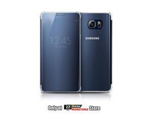 Samsung EF-ZN920C Clear View Cover Flip Cover Case for Galaxy Note 5 (SM-N920) - Retail Packaging, Clear Blue Black