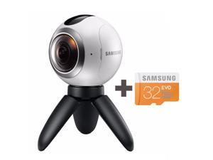 Samsung Gear 360 Degree Cam Spherical Camera SM-C200 + Samsung MicroSD 32GB