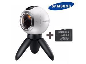Samsung Gear 360 Degree Cam Spherical Camera SM-C200 + Samsung MicroSD 64GB