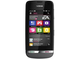 Nokia Asha 311 Grey Factory Unlocked 2G Network-GSM 850 / 900 / 1800 / 1900, Penta Band 3G- WCDMA 850/900/1700/1900/2100
