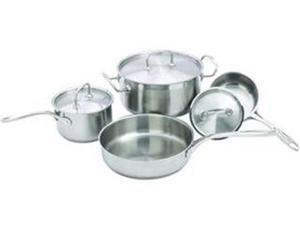 Cookware Set, 7 Piece Premium Set, Heavy Weight Stainless Steel, Induction-Ready