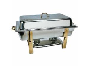 Chafer, 8 Quart Oblong, Gold Accented, GIFT BOXED