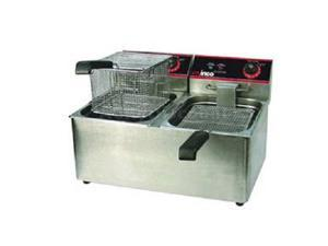 Winco Countertop Deep Fryer 32 lbs. Twin Well