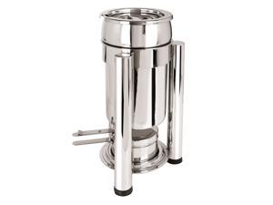 Eastern Tabletop Petite Marmite 2 Qt, Stainless Steel W/ Pillar'd Legs and Lid