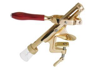 Table Mount Cork Puller, Deluxe with Brass Finish