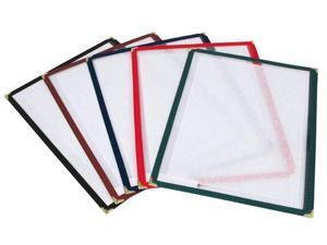 "6 Winco Single Menu Covers 12"" x 9 1/2"" Red Restaurant Supplies"