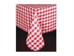 "6 Winco Table Cloths 52"" x 70"" Oblong Red Cotton Lining Restaurant Supplies"