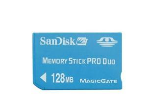 SanDisk 128MB Memory Stick Pro Duo Card with Free Adapter