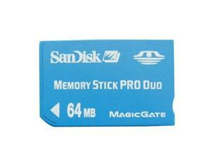 SanDisk 64MB 64Mbytes Memory Stick Pro Duo Card with Free Adapter