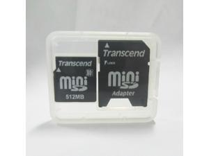 Transcend miniSD Card 512MB MINI SD Memory CARD with minisd card adapter for Nokia old phones