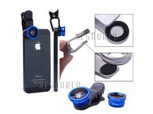Xcsource® 3in1 Mini Fisheye Wide Angle Macro Lens For Samsung Note 2 3 Galaxy S4 S5 DC526