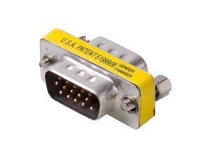 VGA SVGA 15 Pin Male To Male M/M Plug Coupler Gender Changer Adapter Converter