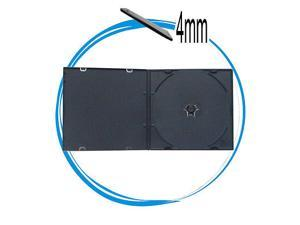 50 Super Slim 4mm Black Single PP Poly CD DVD VCD Cases with Sleeve