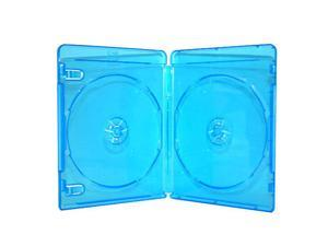 100 Double Blue Case for Blu-Ray BD DVD CD Movie Box
