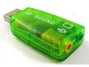 Blue External USB 2.0 to 3D Virtual Audio Sound Card Adapter Converter 7.1 CH