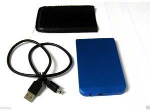 "2.5"" Inch Blue Sata USB 2.0 Hard Drive HDD Enclosure External Laptop Disk Case"