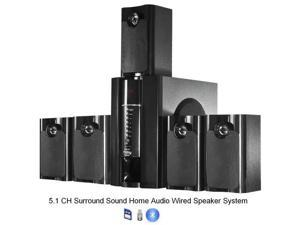 Frisby 800 Watt 5.1 Home Audio PC Computer Speaker System w/ USB SD Bluetooth