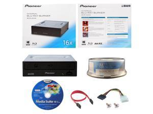 Pioneer 16X Bluray Burner+FREE 15pk MDisc BD+Software+Cable DVD CD Optical Drive