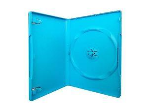10-Pack 14mm Standard Single Disc Nintendo Wii U Blue DVD Cases Baby Blue Color