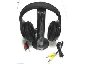5 in 1 Hi-Fi Wireless Headset Headphone Earphone for TV DVD MP3 PC Black