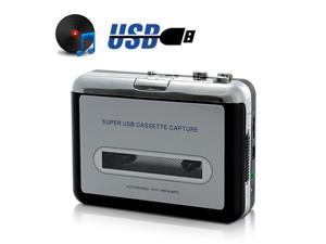 USB Tape-to-MP3 Converter + Cassette Player