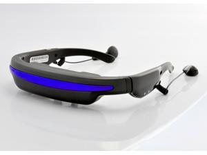 Mobile Theatre Video Glasses with 52 Inch Virtual Screen and Earphones