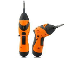 Cordless Adjustable Electric Drill and Screwdriver with Flashlight (45 Drills and Screw Heads, Rechargeable, 4.8V)