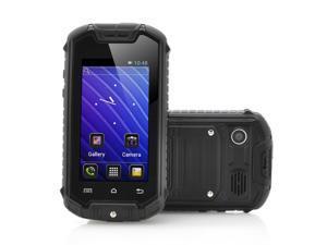 Nanex - 2.45 Inch Mini Android Phone (IP53 Water Resistant, Dual SIM, Black)