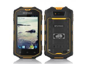 4 Inch Rugged Android Phone (Dual Core 1.3GHz CPU, Waterproof, Shockproof, Dust Proof, Yellow)