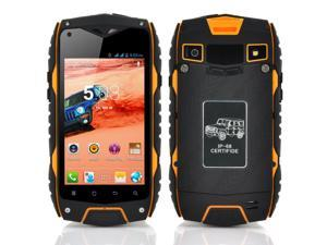 4 Inch Rugged Dual SIM Android Phone (Waterproof, Shockproof, Dust Proof, Dual Core CPU, Yellow)