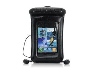 Waterproof Case + Earphones - for iPhone, iPod Touch, Android Smartphone